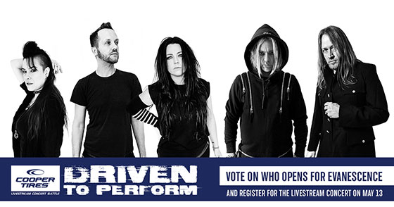 Free Evanescence Livestream Event Presented by Cooper Tire